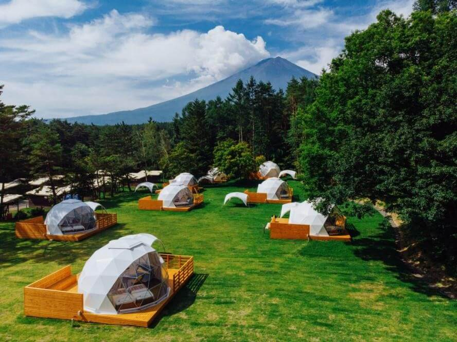 PICAfujiyamaのグランピングテントからは富士山が一望