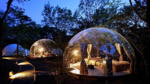日本初となる透明なグランピングドームAURA(アウラ)
