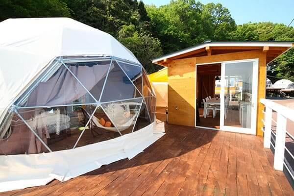 人気のドームテントを楽しめるファームグランピング京都天橋立