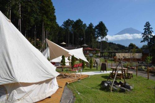まかいの牧場「森のかくれ家」-富士山の見えるグランピング