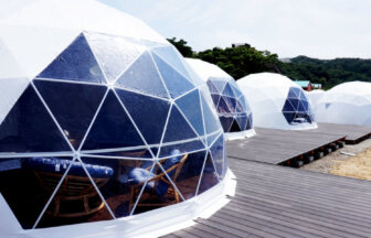 SHIOSAI TERRACEでドームテント体験