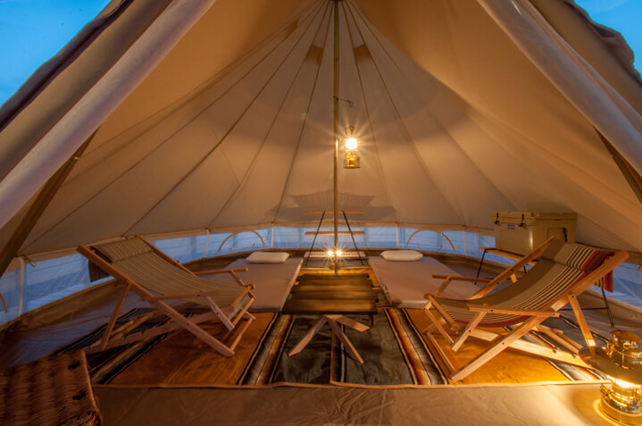 MIFUNE VILLAGEのテントでゆっくり楽しい時間をお過ごしください。