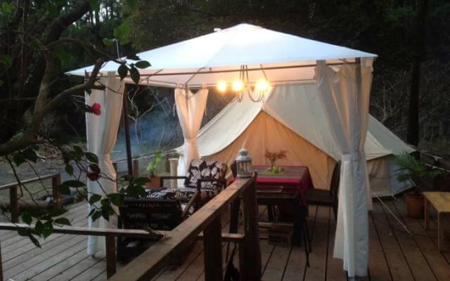 Nakadaki Art Villageのグループや大人数の利用にピッタリのユニークなテント