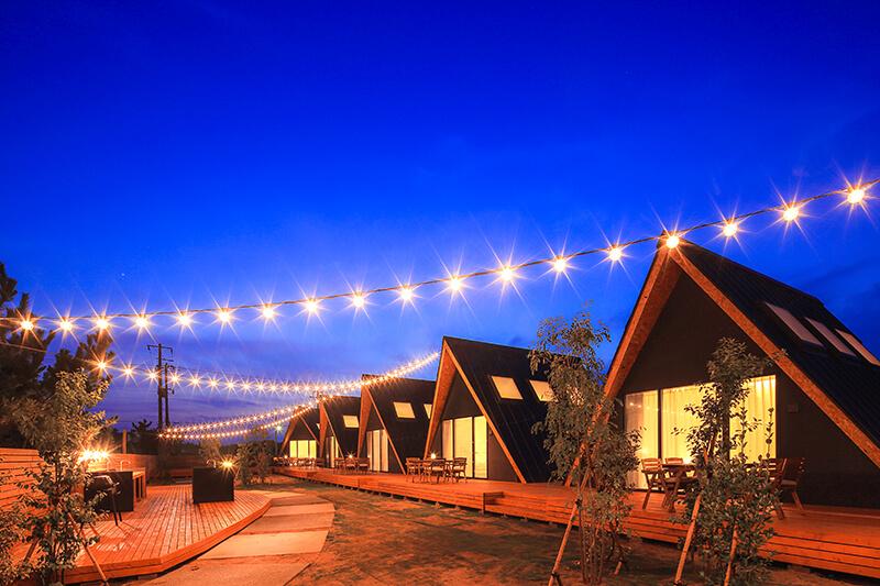 一宮海岸まで徒歩3分、千葉県一宮町のグランピング施設TENT