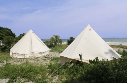 ビーチグランピングBy-the-Seaのテント