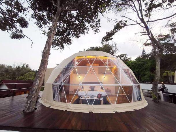 バンブーフォレストはドームテントとロータスベルテント