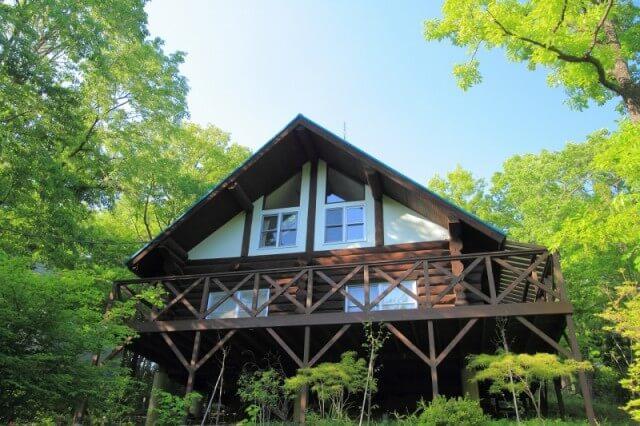 本格的なログハウスに宿泊するならヴィラージュ那須高原。10人用。