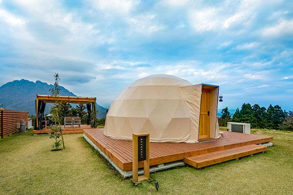人気のドームテント、妙義山を眺めながら妙義グリーンホテル&テラスでリフレッシュ。