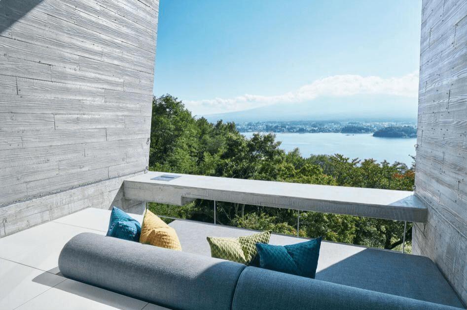 星のや富士から素敵な景色が眺められます。
