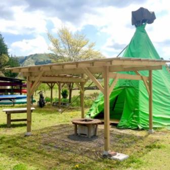 オートキャンプ那珂川ステーションの可愛いティピーテント