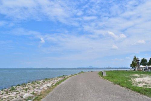 STAGEX高島のレンタサイクル琵琶湖畔
