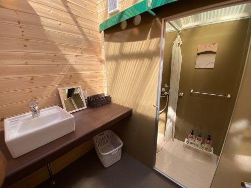 杓子山ゲートウェイキャンプのシャワールーム