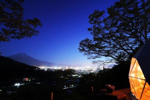 杓子山ゲートウェイキャンプの夜景