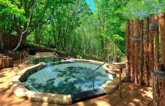 群馬県の水上高原グランピングフィールド露天風呂